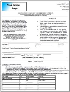 Dynamic Forms Financial Aid Form